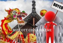 BoycottChina, Army with bullet, Civilians with wallet, BoycottChineseApp
